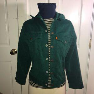 Vintage Levi's 70's green orange tab jacket